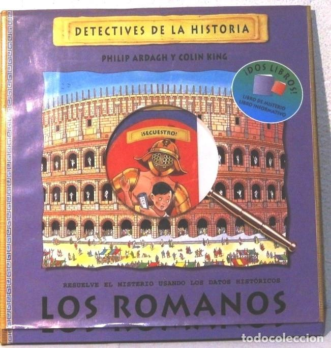 DETECTIVES DE LA HISTORIA - LOS ROMANOS - TAPA DURA (Libros Antiguos, Raros y Curiosos - Literatura Infantil y Juvenil - Cuentos)