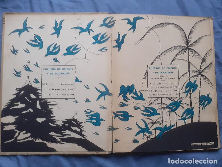 Libros antiguos: Cuentos de oriente y occidente - Tomo primero - Ed. talleres offset, años 30 - Foto 13 - 187516757