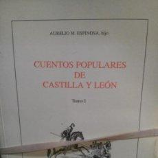 Libri antichi: I Y II TOMO DE CUENTOS POPULARES DE CASTILLA Y LEÓN, AURELIO M. ESPINOSA, HIJO.. Lote 188678725