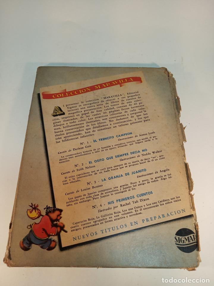 Libros antiguos: El osito que siempre decía no. Colección maravilla. Edit. Sigmar. Buenos Aires. Cuento poco visto. - Foto 8 - 188781233