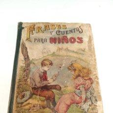 Livros antigos: FRASES Y CUENTOS PARA NIÑOS. SATURNINO CALLEJA. MADRID. 1883. . Lote 188781921