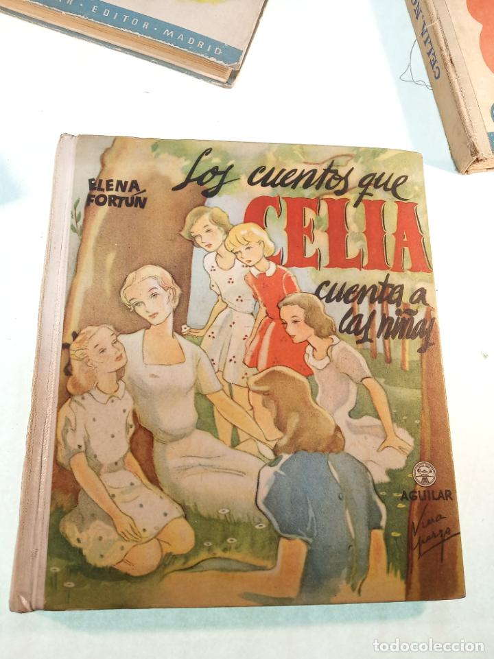 Libros antiguos: Lote de 5 cuentos de Los cuentos de Celia. Elena Fortún. Aguilar. Madrid. 1955. - Foto 2 - 189138382