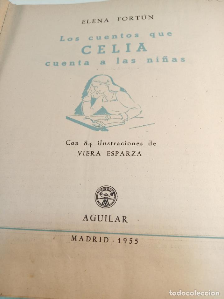 Libros antiguos: Lote de 5 cuentos de Los cuentos de Celia. Elena Fortún. Aguilar. Madrid. 1955. - Foto 7 - 189138382
