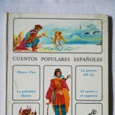 Libros antiguos: CUENTOS POPULARES ESPAÑOLES EDITORIAL TIMUN MAS 1971. Lote 189299127