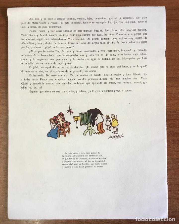 Libros antiguos: EL HERMANITO TIN. Cuento de niñas. - LAGUIA LLITERAS, Juan. - Foto 5 - 123206102
