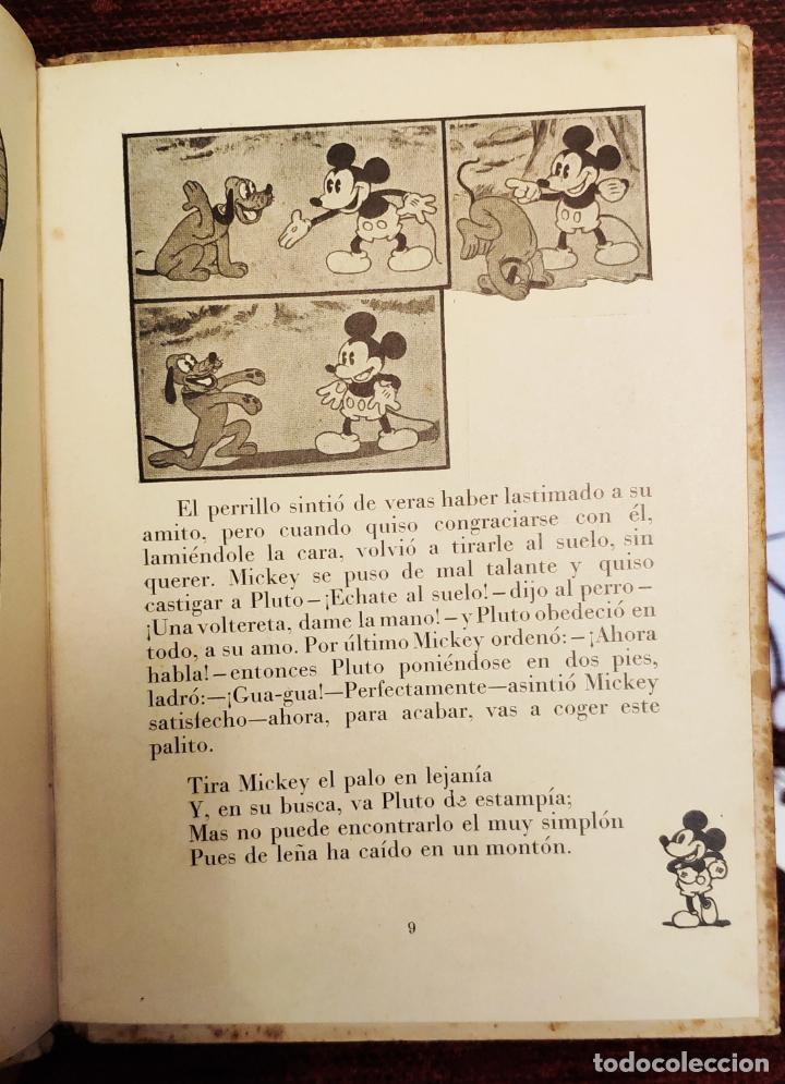 Libros antiguos: BIBLIOTECA DE AVENTURAS MICKEY N° 2: MICKEY CAZADOR Y MICKEY TAXISTA - WALT DISNEY (ALAS 1934) - Foto 5 - 191501815