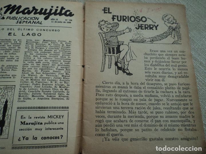 Libros antiguos: EL FURIOSO JERRY COLECCION MARUJITA Nº126 EDIT.MOLINO 1936 ILUSTRADO 32 PAGS - Foto 2 - 192861706