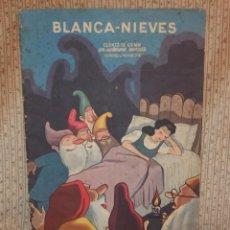 Libros antiguos: BLANCA-NIEVES CON SUPLEMENTO RECORTABLE,EDICIONES ORVY S.L.,AÑO 1940. Lote 194182498