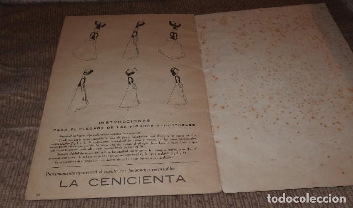 Libros antiguos: BLANCA-NIEVES CON SUPLEMENTO RECORTABLE,EDICIONES ORVY S.L.,AÑO 1940 - Foto 4 - 194182498