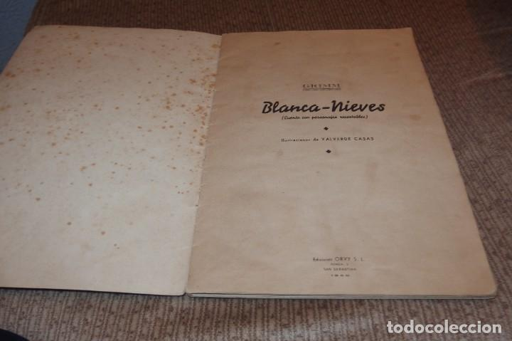 Libros antiguos: BLANCA-NIEVES CON SUPLEMENTO RECORTABLE,EDICIONES ORVY S.L.,AÑO 1940 - Foto 6 - 194182498