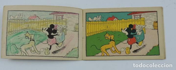 Libros antiguos: Cuaderno Mickey detective, cuaderno de dibujos, walt disney n.23, mide 11,5 x 7,5 cms. Ilustraciones - Foto 3 - 194285721