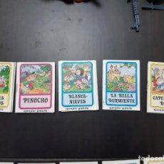 Libros antiguos: LOTE 5 MINI CUENTOS INFANTILES PETIT SHOES CALZADO INFANTIL VILLENA PINOCHO BLANCANIEVES CAPERUCITA. Lote 194318781