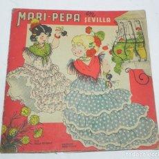 Libros antiguos: CUENTO DE MARI PEPA EN SEVILLA. TEXTO, EMILIA COTARELO. ILUSTRACIONES DE MARIA CLARET. 22,5 X 21,5 C. Lote 194385405