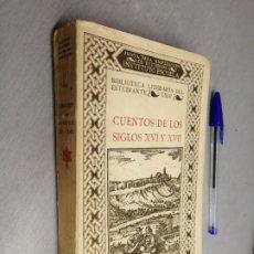 Libros antiguos: CUENTOS DE LOS SIGLOS XVI Y XVII / M. HERRERO GARCÍA / BIBLIOTECA LITERARIA DEL ESTUDIANTE 1926. Lote 194555605