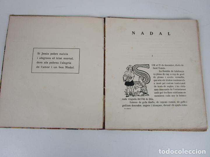 Libros antiguos: Bons Costums Catalans Nadal - Dibuix A. Utrillo - Col-leccio Roselles nº 8 - Año 1933 - Foto 5 - 194606637