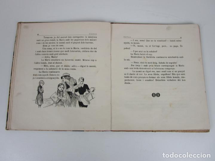 Libros antiguos: Bons Costums Catalans Nadal - Dibuix A. Utrillo - Col-leccio Roselles nº 8 - Año 1933 - Foto 6 - 194606637