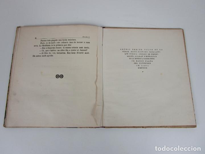 Libros antiguos: Bons Costums Catalans Nadal - Dibuix A. Utrillo - Col-leccio Roselles nº 8 - Año 1933 - Foto 7 - 194606637