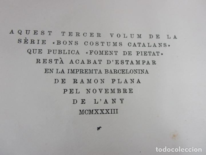 Libros antiguos: Bons Costums Catalans Nadal - Dibuix A. Utrillo - Col-leccio Roselles nº 8 - Año 1933 - Foto 9 - 194606637