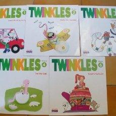 Libros antiguos: TWINKLES (ANAYA ENGLISH),NUMEROS 1-2-3-4-6,TAPA FINA,. Lote 195109783