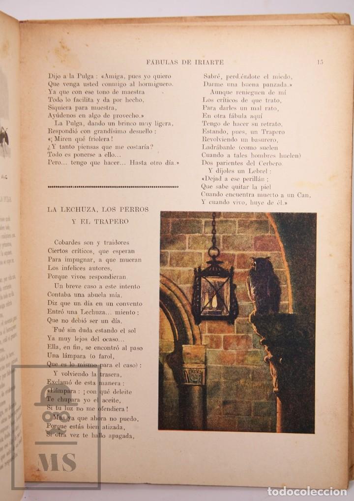 Libros antiguos: Antiguo Libro Ilustrado Biblioteca para Niños - Fábulas de Iriarte - Ramón Sopena - Foto 4 - 195263855
