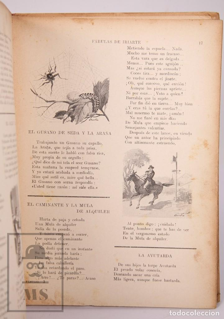 Libros antiguos: Antiguo Libro Ilustrado Biblioteca para Niños - Fábulas de Iriarte - Ramón Sopena - Foto 6 - 195263855