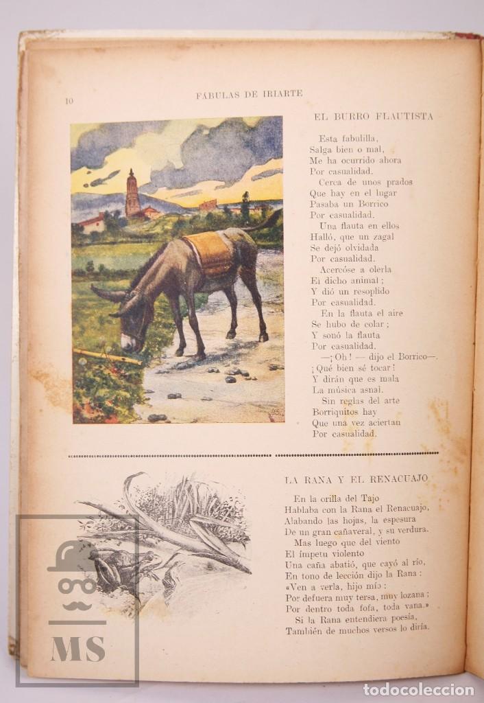 Libros antiguos: Antiguo Libro Ilustrado Biblioteca para Niños - Fábulas de Iriarte - Ramón Sopena - Foto 7 - 195263855
