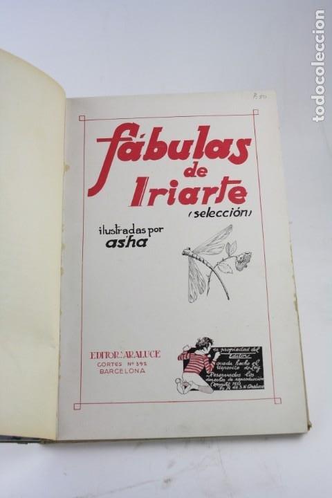 Libros antiguos: Fábulas de Iriarte, 1ª edición, 1933, ilustraciones Asha, Barcelona. 32,5x22,5cm - Foto 2 - 195277401
