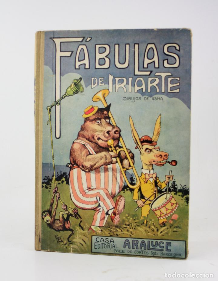 FÁBULAS DE IRIARTE, 1ª EDICIÓN, 1933, ILUSTRACIONES ASHA, BARCELONA. 32,5X22,5CM (Libros Antiguos, Raros y Curiosos - Literatura Infantil y Juvenil - Cuentos)