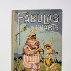 Libros antiguos: FÁBULAS DE IRIARTE, 1ª EDICIÓN, 1933, ILUSTRACIONES ASHA, BARCELONA. 32,5X22,5CM. Lote 195277401