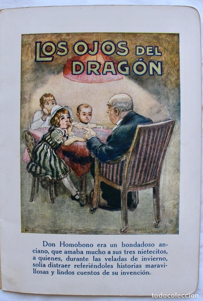 Libros antiguos: LOS OJOS DEL DRAGON. LIBROS DE PREMIO X . RAMON SOPENA EDITOR - ILUSTRACIONES DE J. LLAVERIAS - - Foto 3 - 195288606