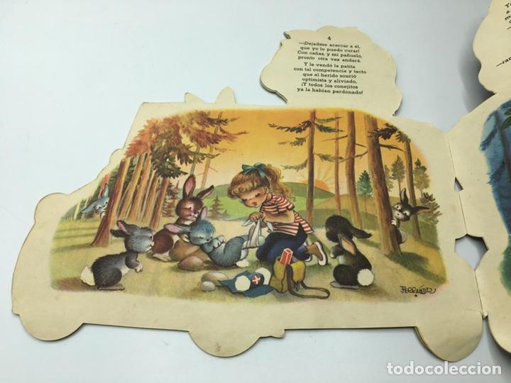 Libros antiguos: Mari Pili en Biscuter , texto y dibujos Ferrándiz , Editorial Vilcar 1º edición - Foto 9 - 195296980