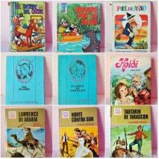 Libros antiguos: LOTE 8 LIBROS LITERATURA INFANTIL, CUENTOS **EL DERBY DEL ORBE, HEIDI, PIEL DE ASNO, ETC** VER FOTOS. Lote 195600925