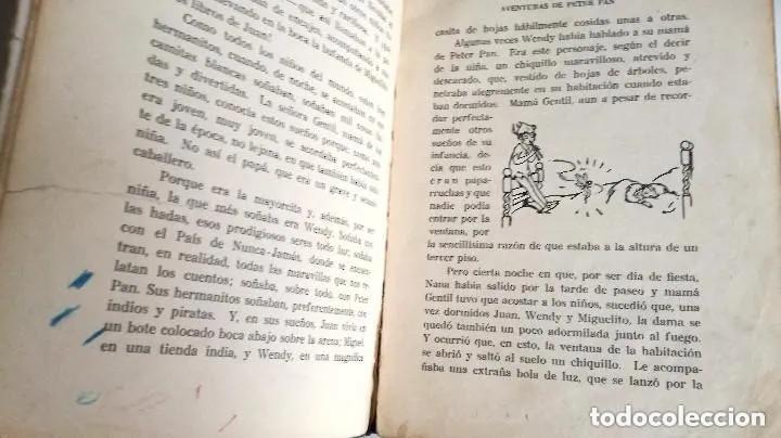 Libros antiguos: Aventuras de Peter Pan Segunda Edición Octubre 1930 Edit. Juventud Los Grandes cuentos ilustrados - Foto 7 - 196598557
