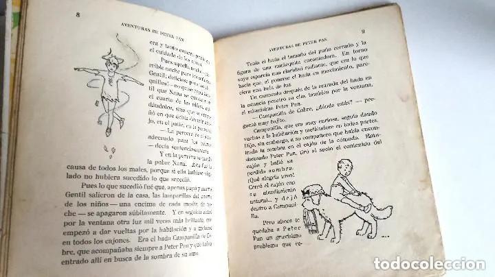 Libros antiguos: Aventuras de Peter Pan Segunda Edición Octubre 1930 Edit. Juventud Los Grandes cuentos ilustrados - Foto 8 - 196598557
