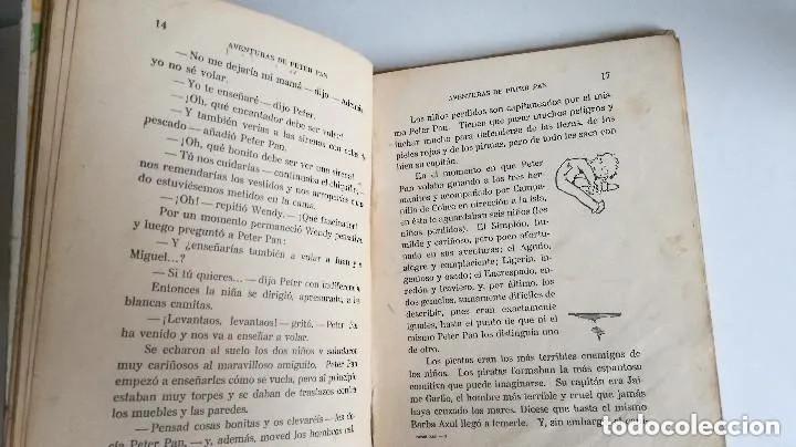 Libros antiguos: Aventuras de Peter Pan Segunda Edición Octubre 1930 Edit. Juventud Los Grandes cuentos ilustrados - Foto 9 - 196598557