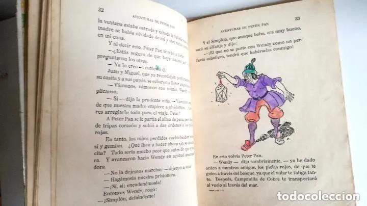 Libros antiguos: Aventuras de Peter Pan Segunda Edición Octubre 1930 Edit. Juventud Los Grandes cuentos ilustrados - Foto 12 - 196598557