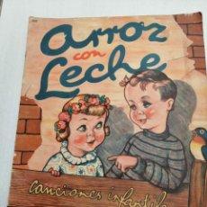 Libros antiguos: * ARROZ CON LECHE* CANCIONES INFANTILES , ILUSTRACIONES DE RODOLFO DAN.. Lote 197095102