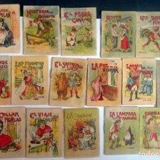 Libros antiguos: LOTE DE 16 CUENTOS DE CALLEJA SERIE V, VARIOS TOMOS, VER FOTOS. Lote 197126410