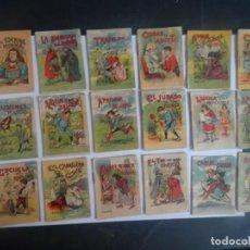 Libros antiguos: LOTE DE 18 ANTIGUOS CUENTOS DE CALLEJA SERIE XIV, VARIOS TOMOS , VER FOTOS. Lote 197131003