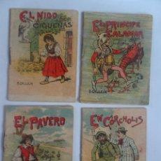 Libros antiguos: LOTE DE 4 ANTIGUOS CUENTOS DE CALLEJA SERIE XII, VARIOS TOMOS , VER FOTOS. Lote 197131693
