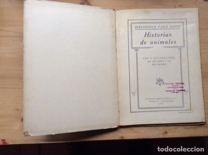 Libros antiguos: HISTORIAS DE ANIMALES - Foto 2 - 197546937