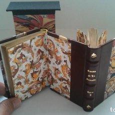 Libros antiguos: ¡¡EXCEPCIONAL / ENCUADERNACIÓN GEMELA!! CONTES DE LA FONTAINE (1831). LEBIGRE. CUENTOS. 2 GRABADOS.. Lote 197826691