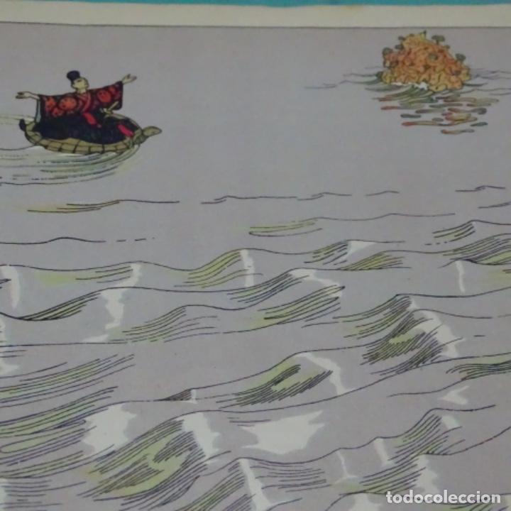 Libros antiguos: Colección amic.cuentos populares ilustrados.el pescador y la princesa.muntañola.japones. - Foto 4 - 198884202