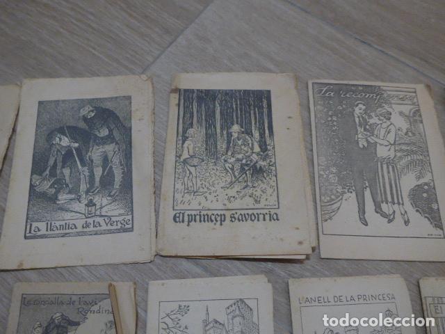 Libros antiguos: Lote 28 antiguos cuentos en catalan de principios s.XX, patufet, originales, catala. Tipo callejas - Foto 3 - 199077043