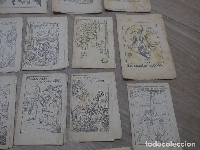 Libros antiguos: Lote 28 antiguos cuentos en catalan de principios s.XX, patufet, originales, catala. Tipo callejas - Foto 5 - 199077043