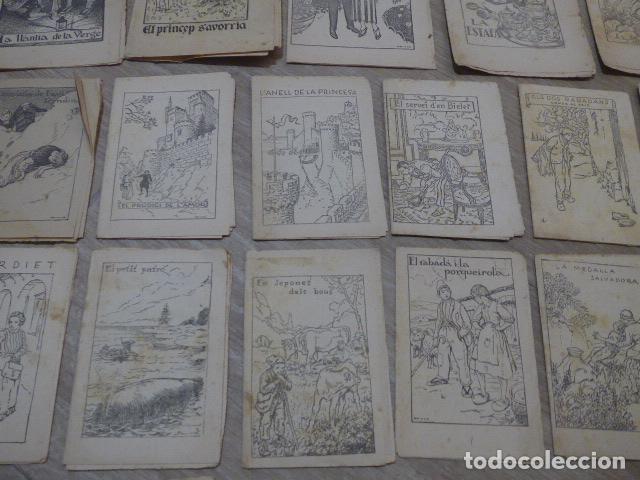 Libros antiguos: Lote 28 antiguos cuentos en catalan de principios s.XX, patufet, originales, catala. Tipo callejas - Foto 6 - 199077043