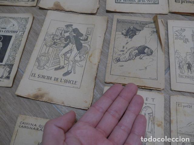 Libros antiguos: Lote 28 antiguos cuentos en catalan de principios s.XX, patufet, originales, catala. Tipo callejas - Foto 12 - 199077043