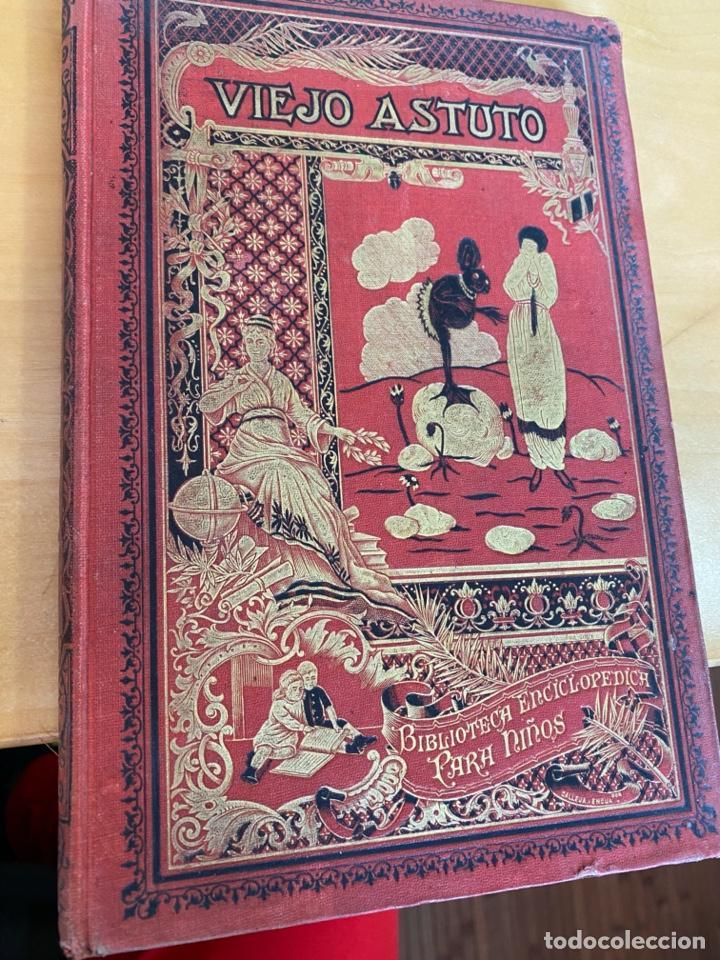 1923.- VIEJO ASTUTO. CUENTOS DE CALLEJA. BIBLIOTECA ENCICLOPEDICA PARA NIÑOS. (Libros Antiguos, Raros y Curiosos - Literatura Infantil y Juvenil - Cuentos)