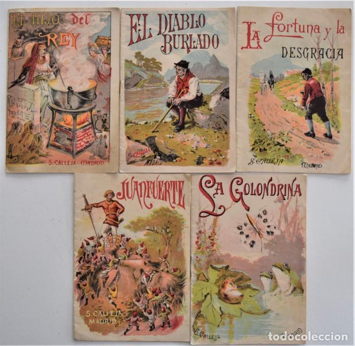 LOTE 5 CUENTOS PARA NIÑOS Nº DE EDITORIAL SATURNINO CALLEJA (Libros Antiguos, Raros y Curiosos - Literatura Infantil y Juvenil - Cuentos)