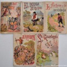 Libros antiguos: LOTE 5 CUENTOS PARA NIÑOS Nº DE EDITORIAL SATURNINO CALLEJA. Lote 202623497